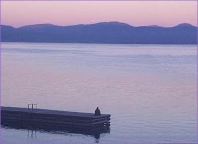 lake dusk pier - July 24, 2013s
