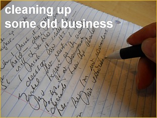 cleaning up old business - September 7, 2014s